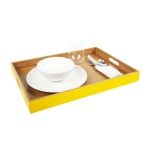 colored bamboo serving tray